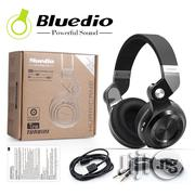 Bluedio T2 Bluetooth Wireless Stereo Swiveling Headphones With Mic, 57mm Drivers,Black | Headphones for sale in Lagos State, Ikeja
