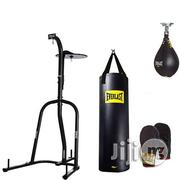 Luxury Boxing Puching Bag With Stand, Speed Bag And Gloves | Sports Equipment for sale in Lagos State, Surulere