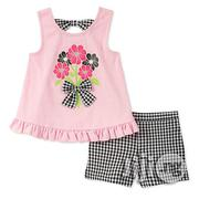 Kids Headquarters Girls' Little 2 Pieces Shorts Set | Children's Clothing for sale in Lagos State, Lagos Mainland