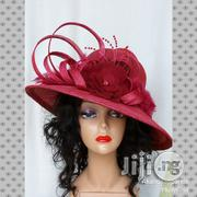Red or Wine Sinamay Hat | Clothing Accessories for sale in Lagos State, Ikorodu