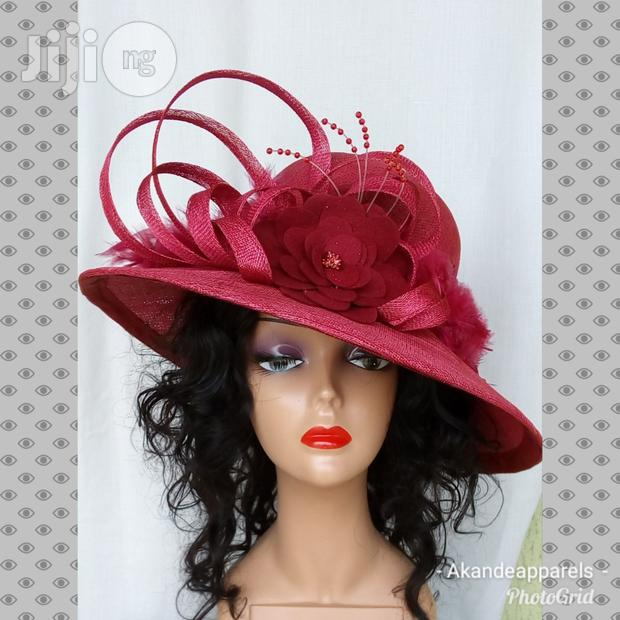 Red or Wine Sinamay Hat