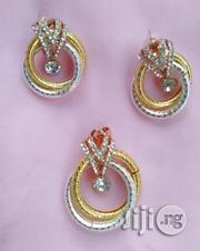 3-Tone Earrings and Pendant Set | Jewelry for sale in Lagos State, Ikotun/Igando