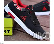 Fashion Men Canvas Shoes - Black Red | Shoes for sale in Bayelsa State, Yenagoa