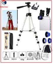 Generic Camera Tripod Stand + Universal 3-In-1camera Lens | Accessories & Supplies for Electronics for sale in Lagos State, Ikeja