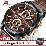 Quartz Mini Focus Leather Watches Men's Trend Wristwatch Gift for Male   Watches for sale in Lagos State, Ikeja