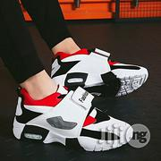 Fashion Men Sneakers Running Shoes Trainers Lace-up Outdoor Athletic Sport Shoes Comfortable-red02 | Shoes for sale in Abuja (FCT) State, Central Business District