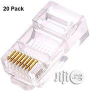 Ethernet RJ45 Connector 20PCS | Computer Accessories  for sale in Lagos State, Ikeja