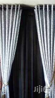 Grey Curtain With Black Flower | Home Accessories for sale in Lagos State, Alimosho