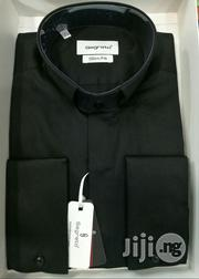 Pure Black Designer Shirt With Bishop Neck by Segrato | Clothing for sale in Lagos State, Lagos Island