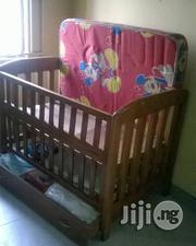 Wooden Baby Crib With Mattress From Newborn To Toddler | Children's Furniture for sale in Lagos State, Lagos Mainland