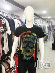 Philipp Plein Black Round Neck T-Shirt | Clothing for sale in Lagos State, Lagos Mainland