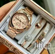 Complete Non Tarnished Nor Fade Michael Kors Set With Wristwatch | Jewelry for sale in Lagos State, Lagos Island