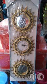 Golden Clock and Mirror Gift Set | Home Accessories for sale in Lagos State, Ikeja