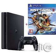Sony PS4 Slim 500GB + Just Cause 3 Game | Video Game Consoles for sale in Kano State, Kano Municipal