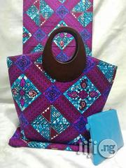 Ankara Bag With 6 Yards Wax and Purse Imported Here in Ikeja Ii | Bags for sale in Enugu State, Nsukka