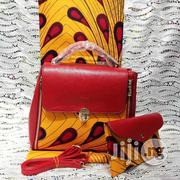 Imported Beautiful Ankara Bag With 6yards Wax and Purse | Bags for sale in Enugu State, Nsukka