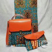 Imported Beautiful Ankara Bag With 6yards Wax and Purse I | Bags for sale in Enugu State, Nsukka