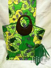 Ankara Bag With 6 Yards Wax and Purse Imported Here in Ikeja Vi | Bags for sale in Enugu State, Nsukka
