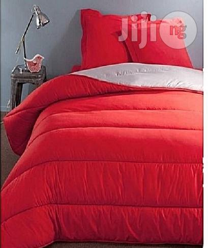Luxe Linient Solution Spikkle Exquisite Reversible Quilted Bedsheet Duvet Set - Red