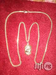 Pure 18karat Tested Gold Necklace With Jesus Piece Pendant | Jewelry for sale in Lagos State, Lagos Mainland