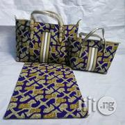 Beautiful Imported Ankara Bag With 6yards Wax And Purse Xx   Bags for sale in Kebbi State, Birnin Kebbi