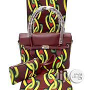 Imported Fabric Made Bags With 6yards Wax and Purse Vi | Bags for sale in Oyo State, Ibadan