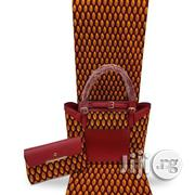 Imported Fabric Made Bags With 6yards Wax And Purse Vii | Bags for sale in Oyo State, Ibadan