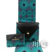 Imported Fabric Made Bags With 6yards Wax and Purse Xii | Bags for sale in Plateau State, Jos