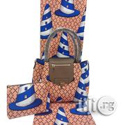 Imported Fabric Made Bags With 6yards Wax and Purse Xiii | Bags for sale in Plateau State, Jos