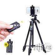 Mobile Phone Tripod Camera Holder With Bluetooth Remote | Accessories for Mobile Phones & Tablets for sale in Lagos State, Ikeja