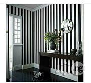 Exquisite Stripped Monochrome Wall Paper | Home Accessories for sale in Lagos State, Ajah