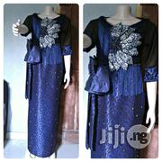 Size 14 UK , Beautiful Black Net And Navy Blue Dress | Clothing for sale in Lagos State, Ikorodu