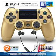 Sony PS4 Controller With Touchpad Lightbar+Gaming Headset - Gold | Video Game Consoles for sale in Abuja (FCT) State, Maitama
