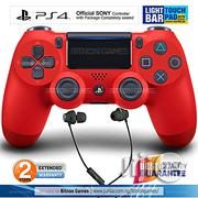Sony PS4 Controller - Sony Official Pad With Warranty + Gaming Headset - 2019 Edition With Touchpad Lightbar- Red | Video Game Consoles for sale in Lagos State, Victoria Island