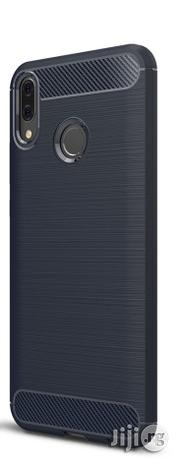 Huawei Y9 (2019) Brushed Texture Carbon Fiber Shockproof TPU Case (Navy Blue) | Accessories for Mobile Phones & Tablets for sale in Lagos State, Ikeja
