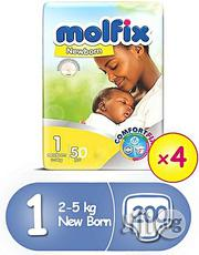 Molfix Comfortfix Newborn Diapers, Size 1,50 Count X 4 (200 Count) | Baby & Child Care for sale in Abuja (FCT) State, Garki 1