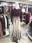 Studded Lace Gown (Purple and Cream Color) | Clothing for sale in Ikoyi, Lagos State, Nigeria