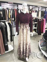 Studded Lace Gown (Purple and Cream Color) | Clothing for sale in Lagos State, Ikoyi