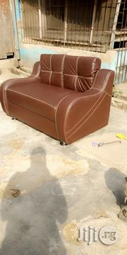 A Brand New Brown LG Leather (2nos) Double Seaters | Furniture for sale in Lagos State