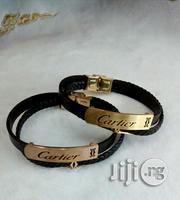 Cartier Leather/Chain Bracelet for Men's | Jewelry for sale in Lagos State, Lagos Island