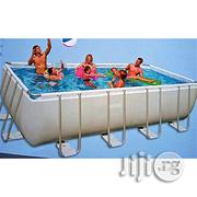Intex Adorable Grey Metal Frame Intex Inflatable Swimming Pool | Sports Equipment for sale in Lagos State