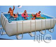 Intex Adorable Grey Metal Frame Intex Inflatable Swimming Pool | Sports Equipment for sale in Abuja (FCT) State, Central Business District