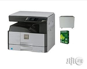 Sharp AR-6020 Digital Multi-Functional All-In-One Photocopy Machine (White and Black)
