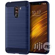 Xiaomi Pocophone F1 Brushed Texture Carbon Fiber Shockproof TPU Case (Navy Blue) | Accessories for Mobile Phones & Tablets for sale in Lagos State, Ikeja