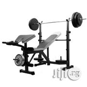 Bench Press With 50kg Barbell | Sports Equipment for sale in Lagos State, Surulere