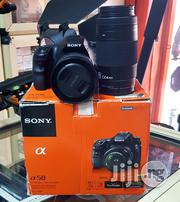 Sony DSLR Camera Alpha A58 With 18-55mm+70-300mm Lens | Accessories & Supplies for Electronics for sale in Lagos State, Ikeja