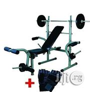 American Fitness Weight Bench With 50kg Weight Plus Gym Glooves | Sports Equipment for sale in Delta State, Warri