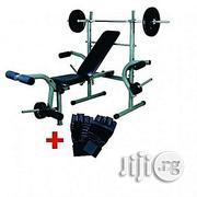 Generic Weight Bench With 50kg Weight Plus Gym Glooves | Sports Equipment for sale in Lagos State, Badagry