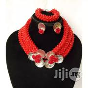 BEAD SMITH Chunky Wedding Bead With Brooch Red | Jewelry for sale in Lagos State, Lekki Phase 2