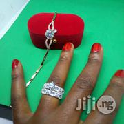 Angelina Engagement, Wedding Ring A02 Handchain - (Silver Rose Gold) | Jewelry for sale in Lagos State, Ikeja